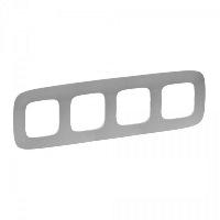 Legrand Valena Allure Алюминий Рамка 4 поста купить в интернет-магазине Азбука Сантехники