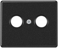 Jung Черный Накладка TV-FM розетки (SL561TVSW) купить в интернет-магазине Азбука Сантехники