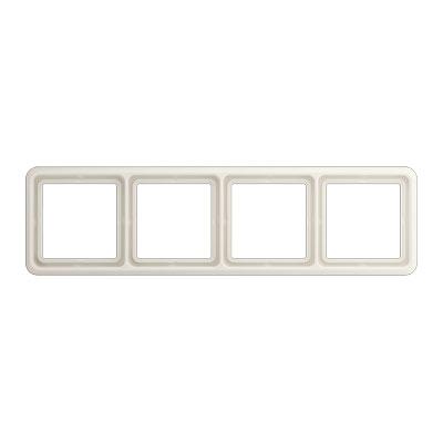 Jung CD 500 Слоновая кость Рамка 4-постовая купить в интернет-магазине Азбука Сантехники