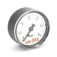 """Манометр аксиальный UNI-FITT 1/4"""" 6 бар, 50 мм"""