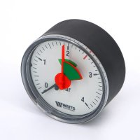 Манометр Watts аксиальный с указателем предела (0–4 бар), корпус — Ø 50 мм