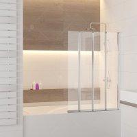 Шторка на ванну RGW Screens SC-21, 1200 × 1500 мм, с прозрачным стеклом, профиль — хром купить в интернет-магазине Азбука Сантехники