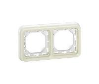Legrand Plexo Белый Рамка 2-ая с суппортом горизонтальная для скрытого монтажа IP55 купить в интернет-магазине Азбука Сантехники