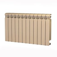 Радиатор биметаллический RIFAR Monolit 500, боковое подключение, 12 секций, айвори (RAL 1013 бежевый) купить в интернет-магазине Азбука Сантехники