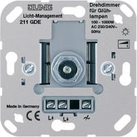 Jung Механизм Светорегулятор поворотно-нажимной для л/н г/л 100-1000 Вт купить в интернет-магазине Азбука Сантехники