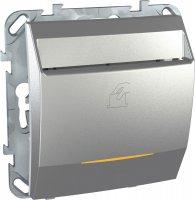 Schneider Electric Unica Top Алюминий Выключатель карточный купить в интернет-магазине Азбука Сантехники