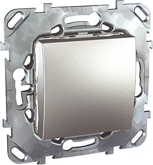Schneider Electric Unica Top Алюминий Переключатель 1-клавишный (схема 6) купить в интернет-магазине Азбука Сантехники