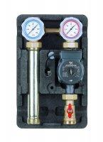 """Насосная группа Meibes UK 1"""" с раздельным теплообменником с насосом UPS 25-60, т/о 30 пл. купить в интернет-магазине Азбука Сантехники"""