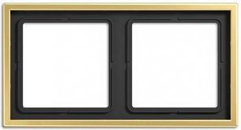 Jung LS 990 Латунь Classic Рамка 2-постовая купить в интернет-магазине Азбука Сантехники