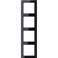 Jung A 500 Черный Рамка 4-постовая купить в интернет-магазине Азбука Сантехники