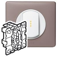 Legrand Celiane Механизм Переключатель кнопочный без фиксации НО/НЗ-контакт 6A купить в интернет-магазине Азбука Сантехники