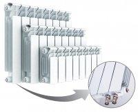 Радиатор биметаллический Rifar Base Ventil 350, нижнее правое подключение, 14 секций
