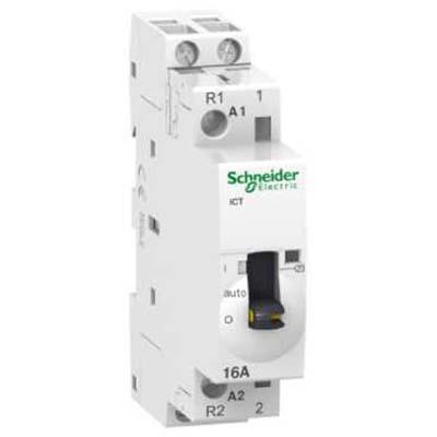 Schneider Electric Acti 9 iCT Контактор модульный 16A 230…240V 50Гц 2НО купить в интернет-магазине Азбука Сантехники