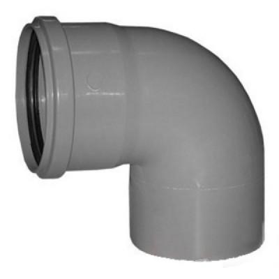 Отвод Политэк Ø 110 мм × 87° полипропиленовый серый купить в интернет-магазине Азбука Сантехники