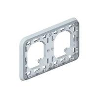 Legrand Plexo Серый Рамка 2-ая с суппортом горизонтальная для скрытого монтажа IP55 купить в интернет-магазине Азбука Сантехники