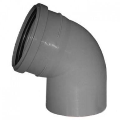 Отвод Политэк Ø 110 мм × 67° полипропиленовый серый купить в интернет-магазине Азбука Сантехники