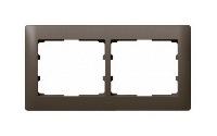 Legrand Galea Life Темная Бронза/Dark Bronze Рамка 2 поста горизонтальная купить в интернет-магазине Азбука Сантехники