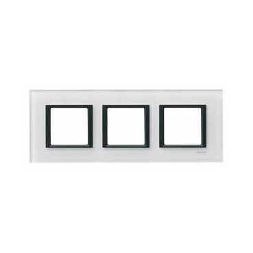 Schneider Electric Unica Class Белое стекло Рамка 3-ая купить в интернет-магазине Азбука Сантехники