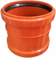 Муфта ПВХ двухраструбная Ø 160 мм для наружной канализации купить в интернет-магазине Азбука Сантехники