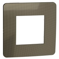 Schneider Electric Unica New Studio Metal Бронза/Белый Рамка 1-постовая купить в интернет-магазине Азбука Сантехники