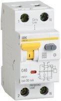 IEK АВДТ32 Дифавтомат 1P+N 40A (C) 6kA тип A 30mA купить в интернет-магазине Азбука Сантехники