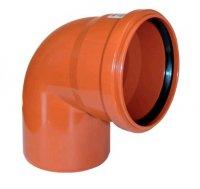Отвод ПВХ Ø 110 мм × 87° для наружной канализации купить в интернет-магазине Азбука Сантехники