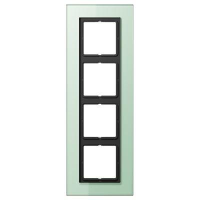 Jung LS plus Стекло Матовый Рамка 4-постовая купить в интернет-магазине Азбука Сантехники