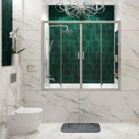 Стеклянная шторка на ванну WasserKRAFT Lippe 45S02-170 купить в интернет-магазине Азбука Сантехники