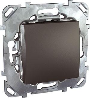 Schneider Electric Unica Top Графит Переключатель 1-клавишный (схема 6) купить в интернет-магазине Азбука Сантехники