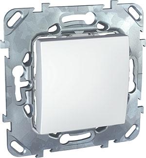 Schneider Electric Unica Белый Переключатель 1-клавишный (схема 6) купить в интернет-магазине Азбука Сантехники