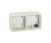 Legrand Plexo Белый Коробка монтажная 2-местная для накладного монтажа горизонтальная IP55 купить в интернет-магазине Азбука Сантехники