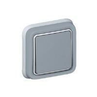 Legrand Plexo Серый Переключатель 1-клавишный встраиваемый в сборе IP55 купить в интернет-магазине Азбука Сантехники