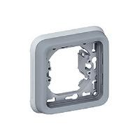 Legrand Plexo Серый Рамка 1-ая с суппортом для скрытого монтажа IP55 купить в интернет-магазине Азбука Сантехники