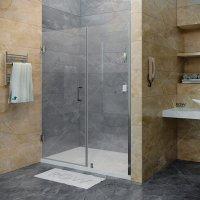 Душевая дверь RGW Hotel HO-02, 1100 × 1950 мм, с прозрачным стеклом, профиль — хром купить в интернет-магазине Азбука Сантехники