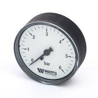 Манометр Watts аксиальный (0–6 бар), корпус — Ø 50 мм