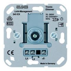 Jung Механизм Светорегулятор поворотно-нажимной Tronic для л/н г/л эл.трансформаторов 20-360 Вт купить в интернет-магазине Азбука Сантехники