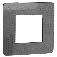 Schneider Electric Unica New Studio Metal Никель/Антрацит Рамка 1-постовая купить в интернет-магазине Азбука Сантехники