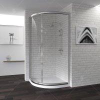 Душевой уголок RGW Passage PA-50, 900 × 900 мм, полукруглый, с прозрачным стеклом, профиль — хром купить в интернет-магазине Азбука Сантехники
