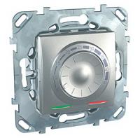 Schneider Electric Unica Top Алюминий Регулятор теплого пола с датчиком температуры купить в интернет-магазине Азбука Сантехники