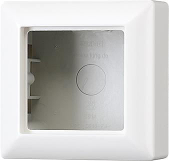 Jung Слоновая кость Коробка для накладного монтажа 1-aя с рамкой купить в интернет-магазине Азбука Сантехники