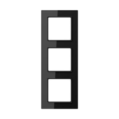 Jung A creation Стекло Черный Рамка 3-постовая купить в интернет-магазине Азбука Сантехники