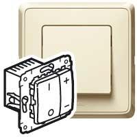 Legrand Cariva Слоновая кость Светорегулятор нажимной 500 Вт для л/н купить в интернет-магазине Азбука Сантехники