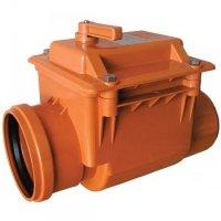 Обратный клапан канализационный ПВХ E.D. Group Ø 110 мм для наружной канализации (Польша) купить в интернет-магазине Азбука Сантехники