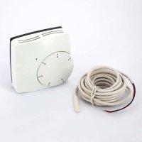 Термостат комнатный электронный Watts WFHT Dual с датчиком температуры теплого пола (кабель датчика 3 м) 24 В купить в интернет-магазине Азбука Сантехники