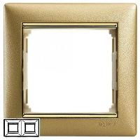 Legrand Valena Матовое золото Рамка 2-ая горизонтальная купить в интернет-магазине Азбука Сантехники