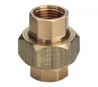 """Разъемное соединение Viega ВР Ø 1"""" бронзовое с плоским уплотнением AFM 34, модель 3330 (271 046) купить в интернет-магазине Азбука Сантехники"""