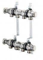 """Коллекторная группа Oventrop Multidis SH 1"""" 4 × G 3/4"""" для отопления, с мех. воздухоотводчиком, нерж. сталь купить в интернет-магазине Азбука Сантехники"""