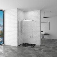 Душевой уголок RGW Stilvoll SV-41, 900 × 1000 мм, прямоугольный, с прозрачным стеклом, профиль — хром купить в интернет-магазине Азбука Сантехники