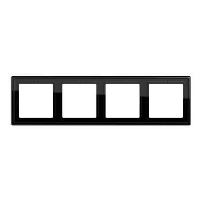Jung LS 990 Черный Рамка 4-постовая купить в интернет-магазине Азбука Сантехники