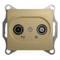 Schneider Electric Glossa Титан Розетка TV-R оконечная 1dB купить в интернет-магазине Азбука Сантехники